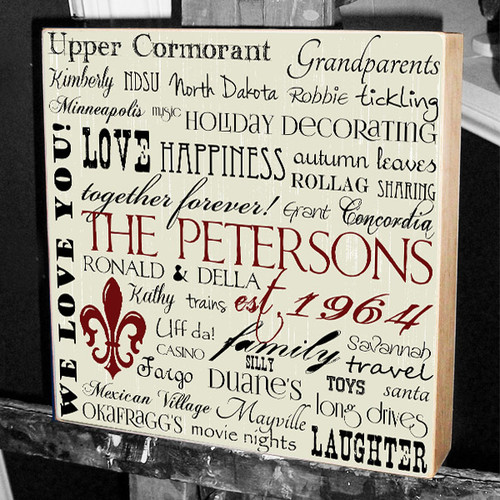 Story of Us Wedding Wall Art