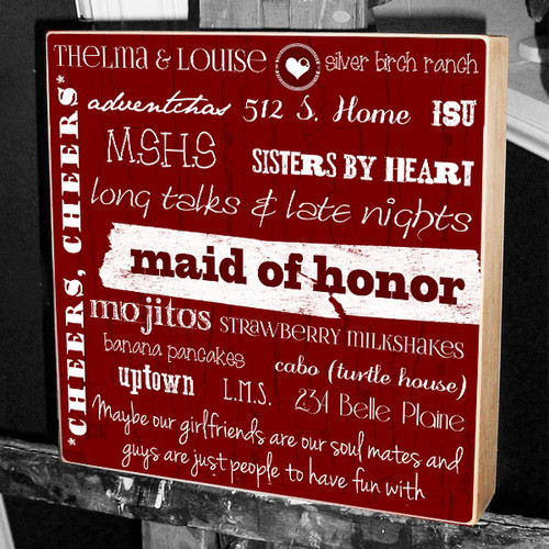 Maid of Honor barn red