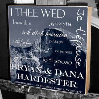 I Thee Wed Wedding Wall Art