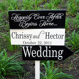 Custom Wedding Directional Sings