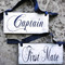 Captain and First Mate Wedding Sign