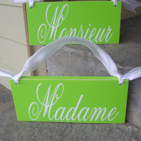 Madame and Monsieur Wedding Chair Signs
