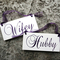 Wifey and Hubby Wedding Chair Signs