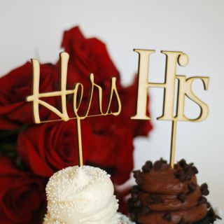Hers & His Cupcake Toppers