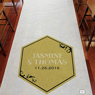 Black and Gold Lavish Aisle Runner
