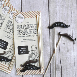 Black and Brown Photo Prop Mustaches