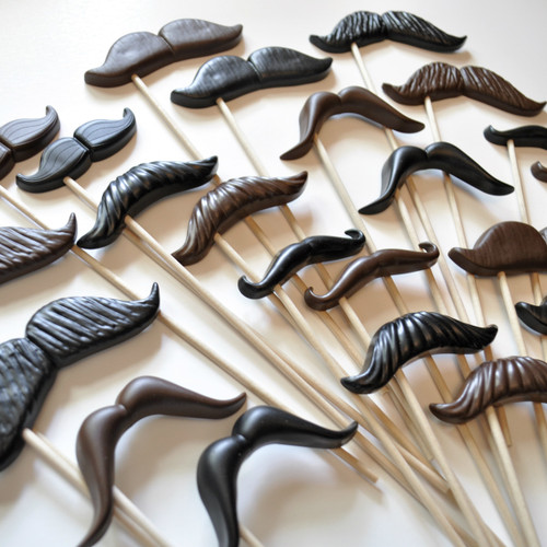 Photo Prop Mustaches - Set of 10