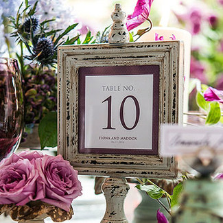 Antique Finish Table Number Signs