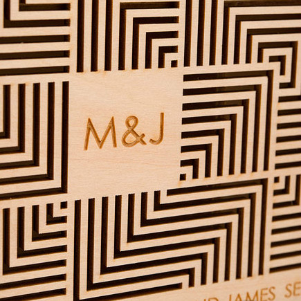 Cubist Natural Wood Keepsake Wishing Well