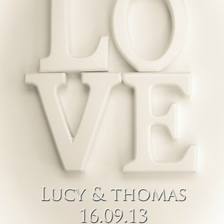 Love print for the bride & groom!