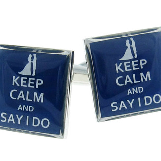 Keep Calm and Say I Do Cufflinks
