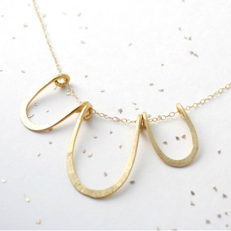 oval silhouette necklace
