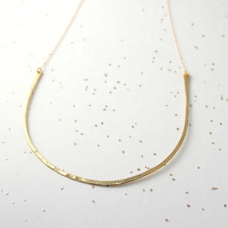 curved big bar necklace
