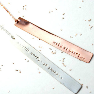 Vertical Long Bar Necklace