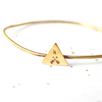 Initial Triangle Bangle