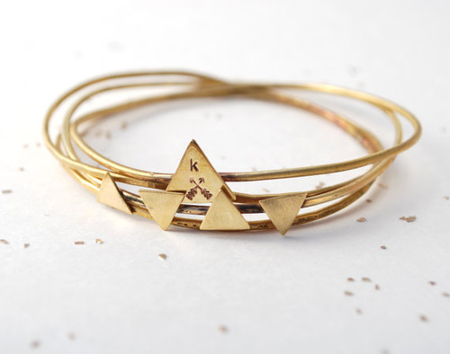 Triangle Bangle Set