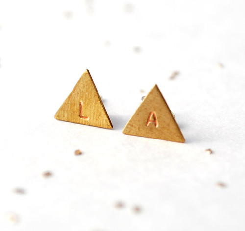Triangle Stud Earrrings