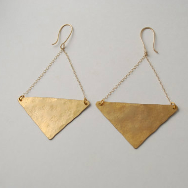 Triangle Love Earrrings