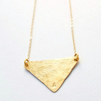 Initial Triangle Necklace
