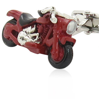 Red Motorcycle Cufflinks