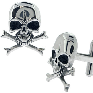 Skull with Crossbones Cufflinks