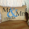 Mr. & Mrs. Burlap Pillows