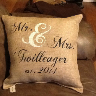 Mr. & Mrs. Wedding Pillow