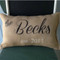 Personalized Burlap Wedding Pillow