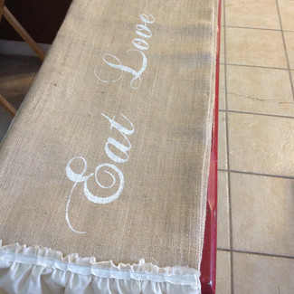 Personalized Burlap Wedding Table Runners