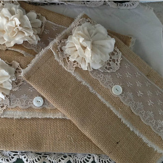 Bridesmaid Burlap Clutch Purses