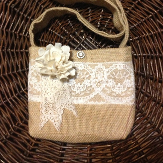 Burlap Flower Girl Purse