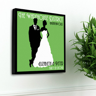Green Couples Studio Canvas