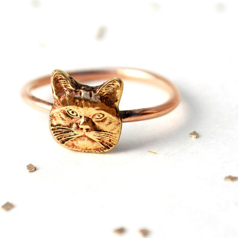 crazy cat lady ring