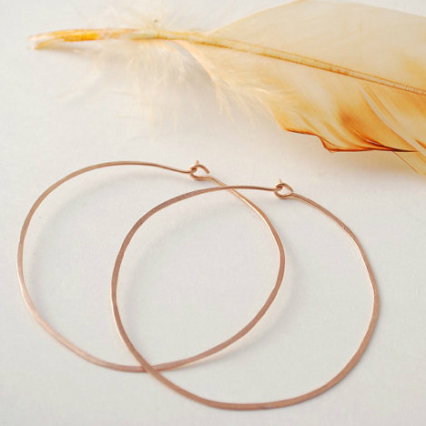 rosie posie hammered large hoops