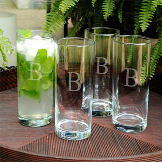 Personalized Drinking Glass Set
