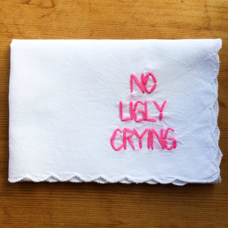 No Ugly Crying w/ stacked lettering