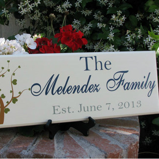 Modern Sweet Heart Tree Wedding Sign