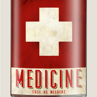 Medicine Flask, 8 oz. stainless steel