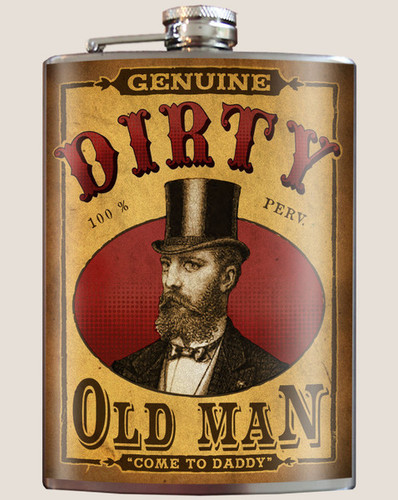 Dirty Old Man Flask, 8 oz. stainless steel