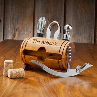 Personalized Wine Barrel and Accessory Kit
