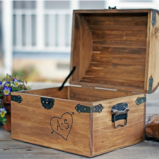 Personalized Rustic Wedding Card Box