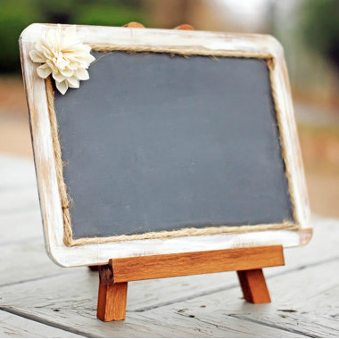 White Distressed Framed Chalkboard