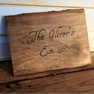 Rustic Wedding Plaque