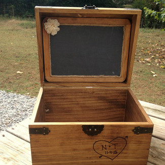 Large Rustic Chest with Chalkboard