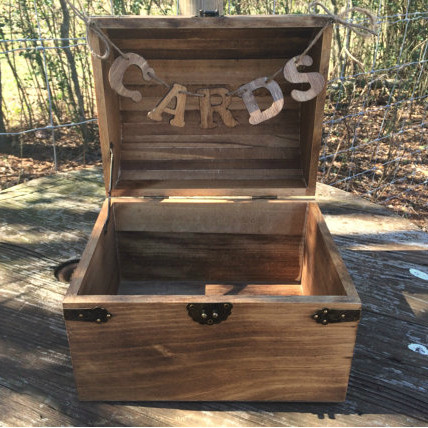 Rustic Chest with Cards Banner