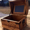 Medium Rustic Chest with Chalkboard