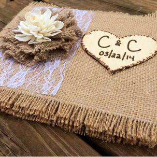 Burlap Wedding Guestbook
