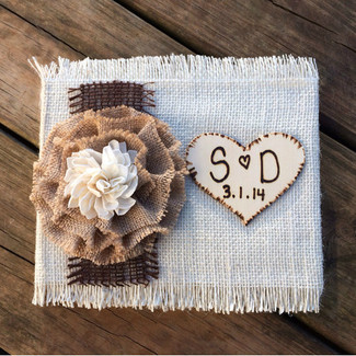 Burlap Chic Wedding Guestbook