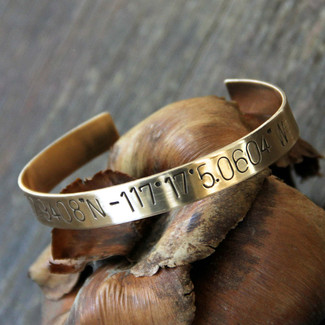 Cuff Bracelet with Secret Message