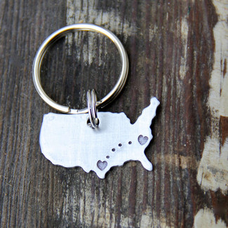 Long Distance Love Keychain